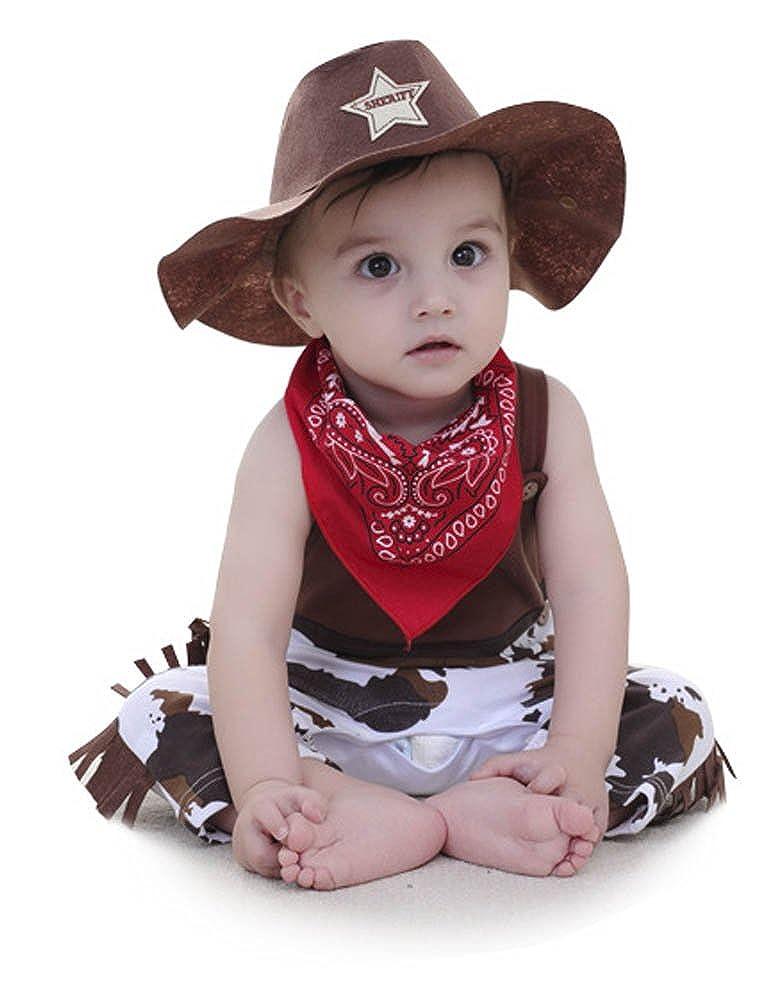 0-24 Mesi ARAUS Tutine Senza Manica da Neonato Bambini Costume Cowboy Estiva