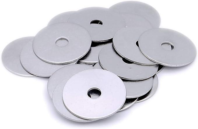Lot de 20 rondelles plates de r/éparation M4 - Acier inoxydable A2 4 mm x 12 mm