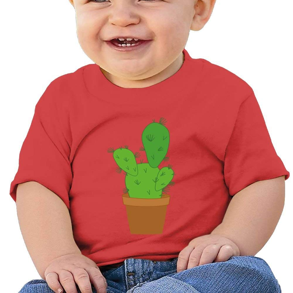 Cute Short-Sleeve T Shirt Retro Cactus Planet Birthday Day Baby Boy Toddlers