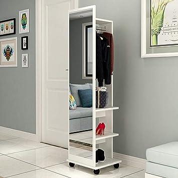 Amazon.com - Floor-Standing Fitting Mirror Modern Minimalist ...