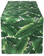 DII 100% Polyester, Spill Proof and Waterproof, Machine Washable, Table Runner for Indoor or Outdoor Use, 14x72, Banana Leaf