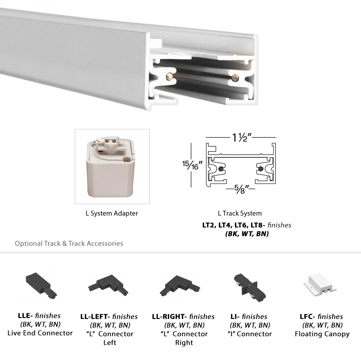 WAC Lighting L-LED207-30-WT Contemporary Summit ACLED 15W Beamshift Line Voltage Cube L-Track Head by WAC Lighting (Image #7)