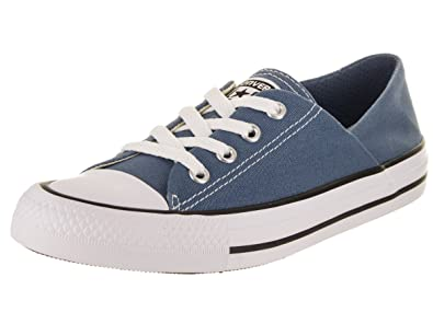 cd8c8b682bfb Converse Womens Chuck Taylor All Star Ox Canvas Blue Coast White Black  Trainers 4.5 UK