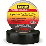 3M Scotch Super 33+ Vinyl Electrical Tape, .75-Inch by 66-Feet, 4-PACK
