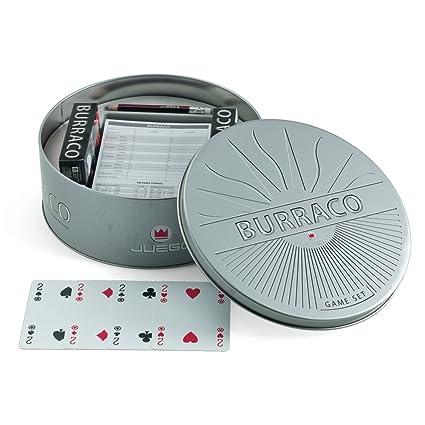 Juego - Cartas de juego Burraco I Cartas en estuche metálico I Juego de sociedad (ITA Toys JU00352)