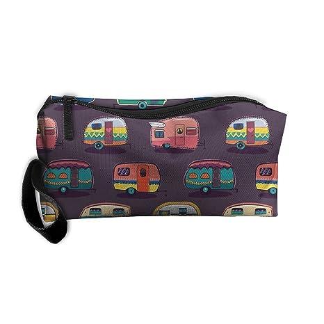 Happy Camper Kit de maquillaje organizador bolsa de afeitado Toiletry bolsa para accesorios de viaje,