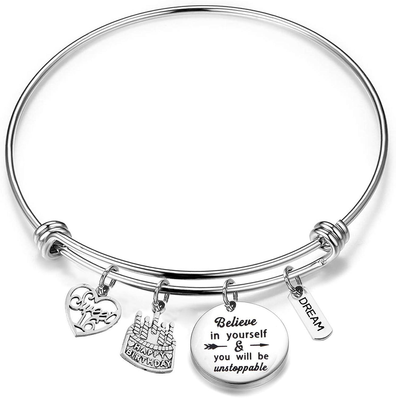 Birthday Bracelet 12th 13th 16th 18th Birthday Jewelry Gift Inspirational Bracelet Happy Birthday Gift For Daughter Best Friend