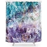 MAOXUXIN Turquoise Purple Quartz Crystal Shower Curtain 60