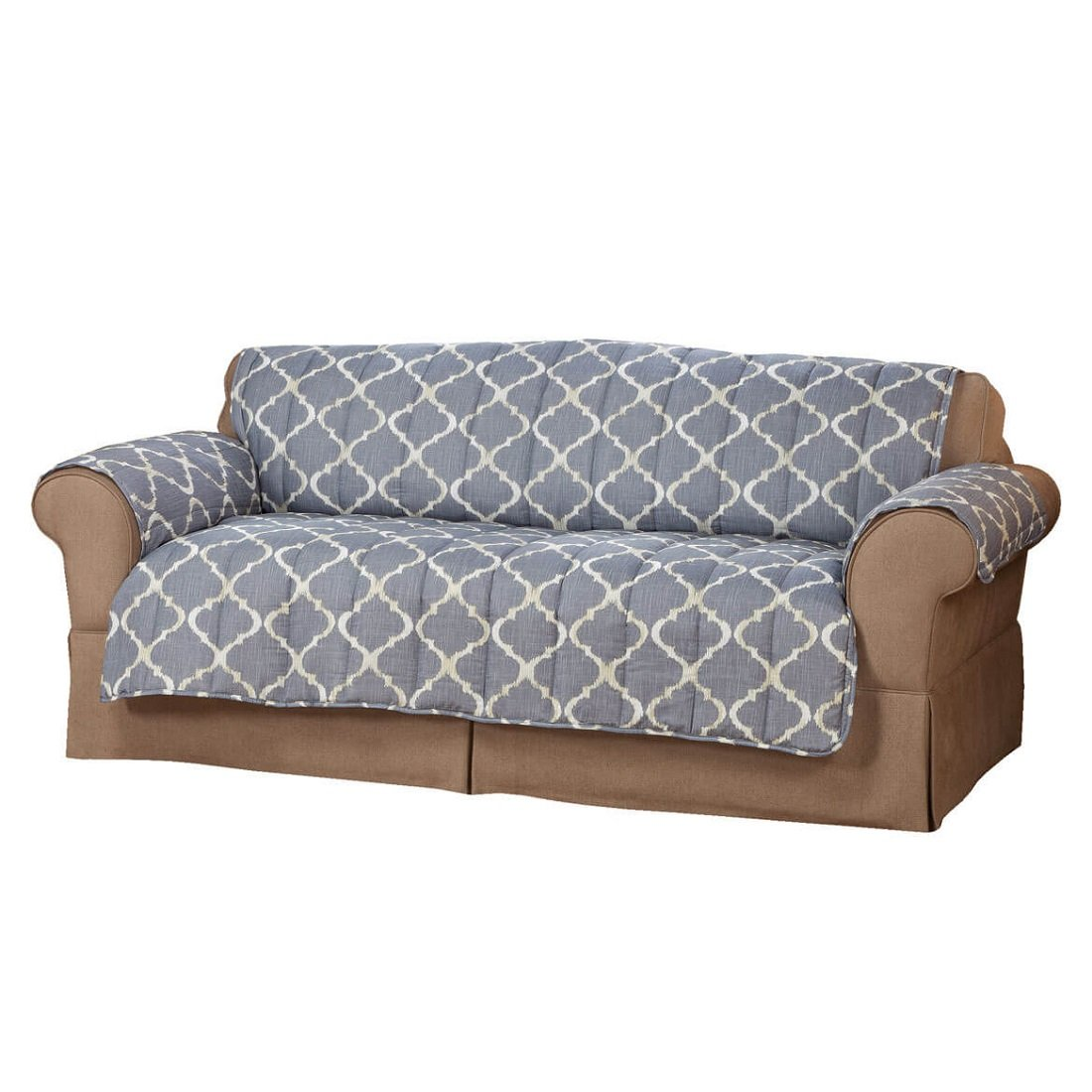 Spill-Proof Soft Microfiber Sofa Slipcover w/Flaps - 100% Polyester, Machine Washable - Seat: 36.5'' L x 68'' W - Back: 39'' L x 68'' W by MS Home