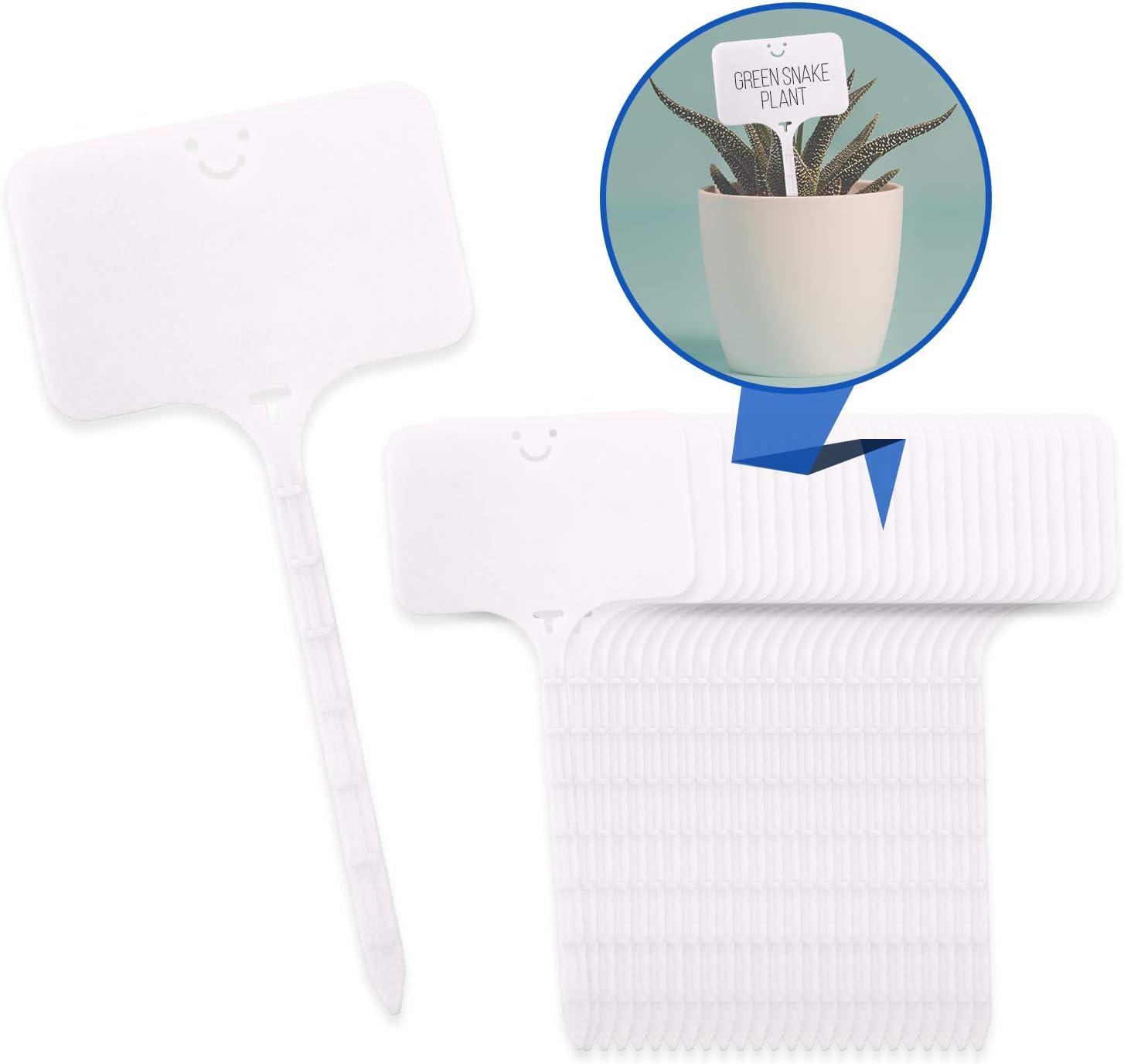 Pratico Outdoors Plastic Plant Labels - White - 25 Pack