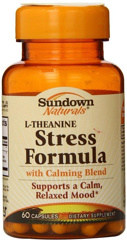 Sundown Naturals L-Theanine Stress Formula, 60 Count (2 Pack)