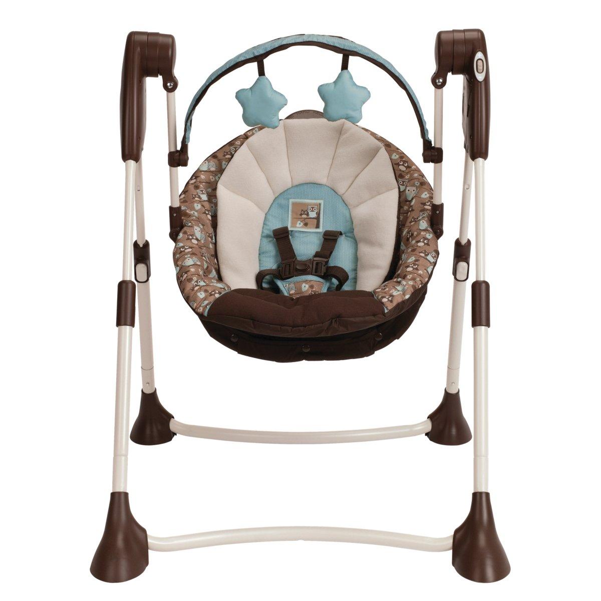 Amazon.com  Graco Swing By Me Portable 2-in-1 Swing Little Hoot  Stationary Baby Swings  Baby  sc 1 st  Amazon.com & Amazon.com : Graco Swing By Me Portable 2-in-1 Swing Little Hoot ... islam-shia.org