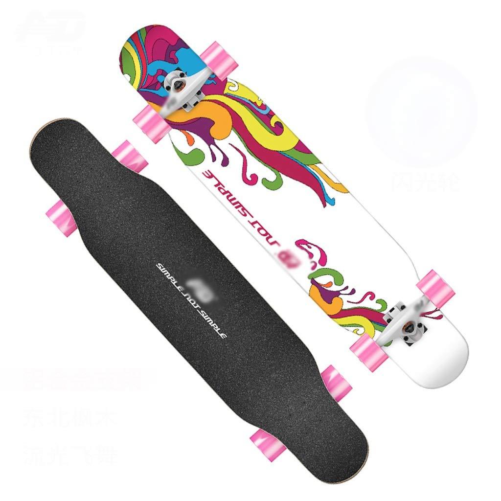激安/新作 DUWEN : スケートボードロングボード大人初心者女の子四ラウンドロードスクーターティーンブラシストリートダブルダンスボード(フラッシュホイール付き) (色 : B07NRNMFGT C) B07NRNMFGT D DUWEN D, 新品登場:4f62c999 --- a0267596.xsph.ru