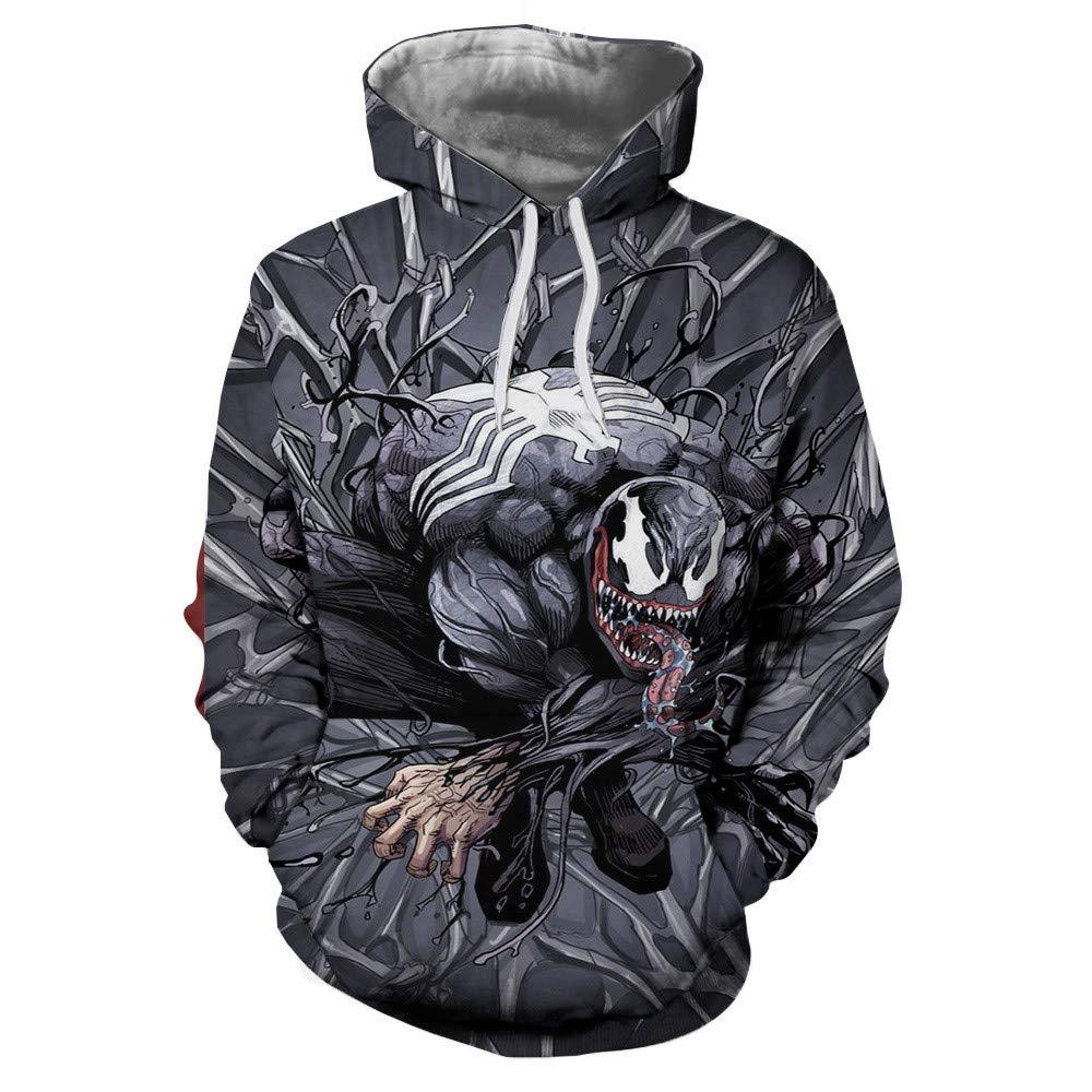 Anxinke Unisex Casual Sports Hoodies Ghost Printed Pullover Sweatshirts