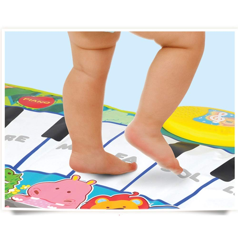 Play Keyboard Mat Cartoon Animals 32 Inches 8 Keys Foldable Floor Keyboard Piano Dancing Activity Mat Musical Keyboard Playmat With Demo Memory Play Touch-sensitive Step And Play Instrument Toys For T by GAOCAN-gq (Image #4)