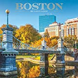 Boston 2021 12 x 12 Inch Monthly Square Wall Calendar with Foil Stamped Cover, USA United States of America Massachusetts Northeast City
