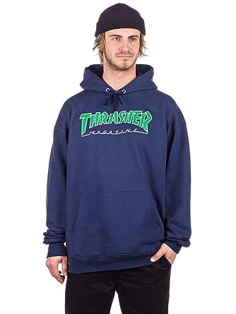 THRASHER - Sudadera con Capucha - para Hombre Azul Marino S