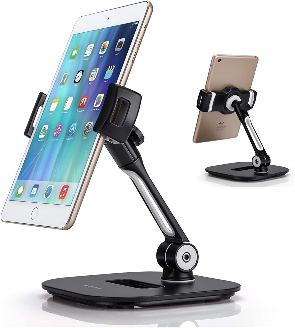 "AboveTEK Stylish Aluminum Tablet Stand fits 4-11"" Tablets/Smartphones & Bracket Tablet Holder for 5.5-13.5"" Tablet & Phone"