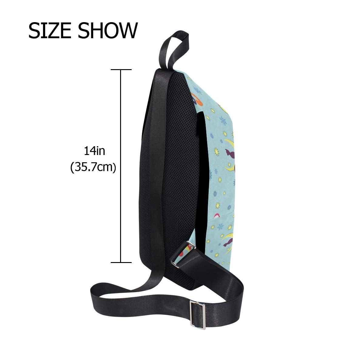 AHOMY Cat Moon Star Snowflake Messenger Bag Small Travel School Sling Bag Crossbody Bag
