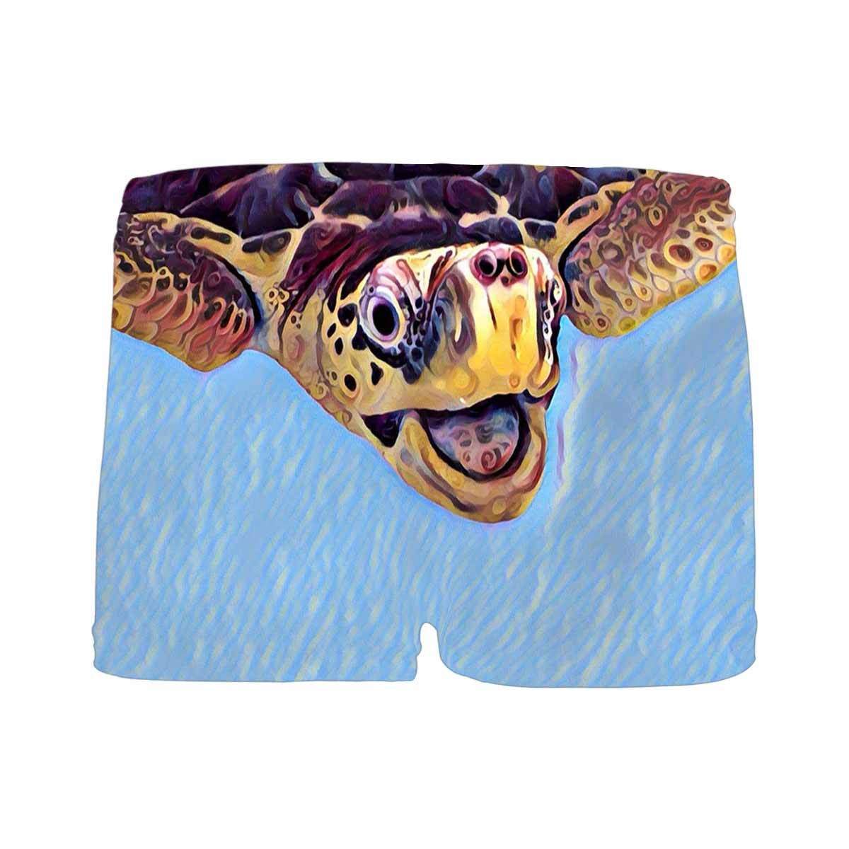 INTERESTPRINT Boys Olive Green Turtle Boxer Brief Underwear 5T-2XL