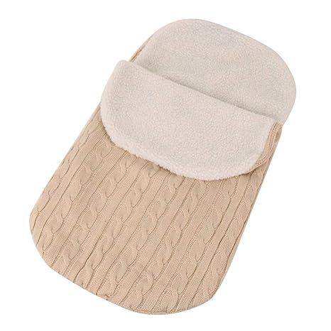 cc44b2945d Baby Infant Swaddle Wrap Wool Swaddling Blanket Colorful Knit Button  Sleeping Bag Cálido y Cómodo para