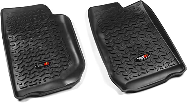 2007-2018 Jeep Wrangler Unlimited JK 4 Dr Black Rugged Ridge 12920.03 Front All Terrain Floor Liner