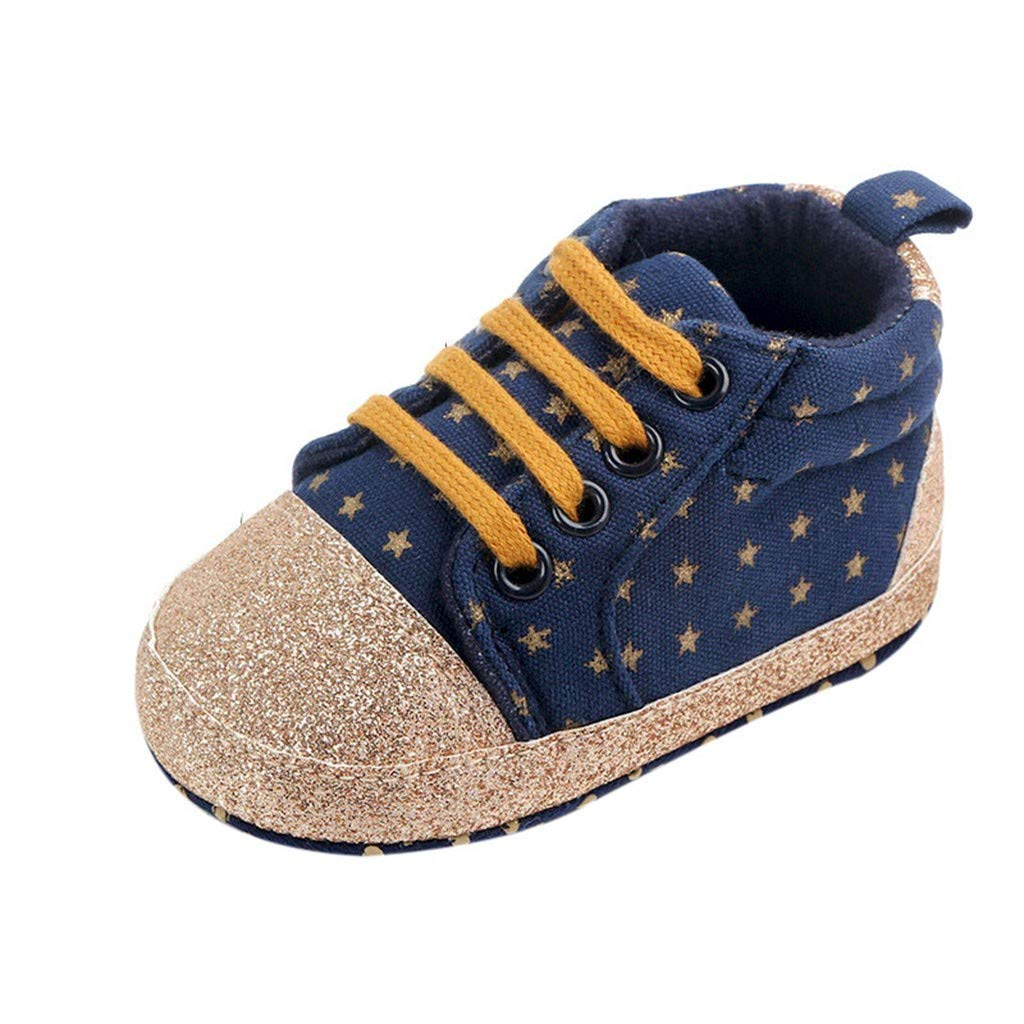 OCEAN-STORE Kid Hiking Shoes Breathable Slip Resistance Outdoor Walking Sports Fashion Casual Sneakers for Boys girlsBlue12-18 Months