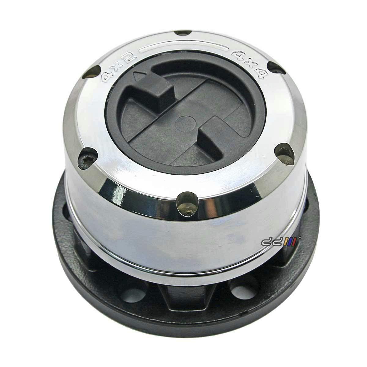 Chrome Dual Seals and 17 Splines WARN 61385 Premium Manual Locking Hub with Zinc Aluminum Alloy Dial 1 Pair