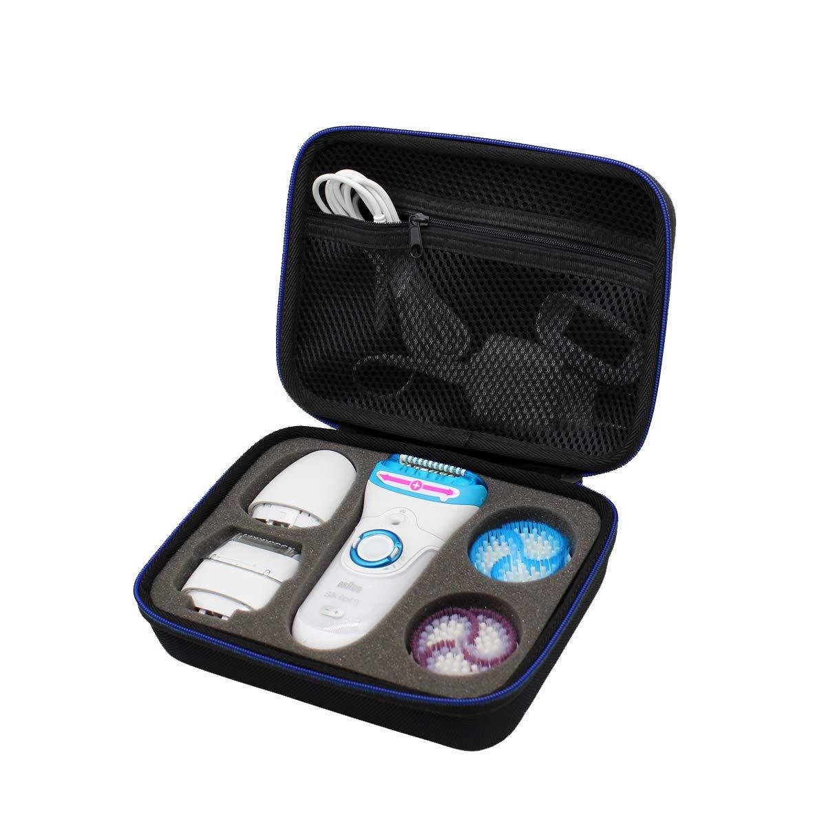 GUBEE Hard Travel Case Bag for Braun Silk-epil 9 SkinSpa 9-961v 5-in-1 Epilator/Epilation