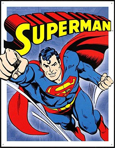 (Desperate Enterprises Superman - Retro Panels Tin Sign, 12.5