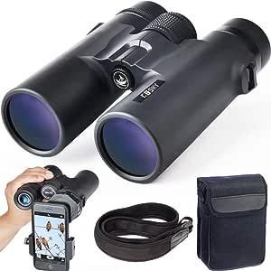 Prism/áticos Eyeskey Professional 8x42 Roof Prism Binoculares para adultos para cacer/ía Senderismo y observaci/ón al aire libre