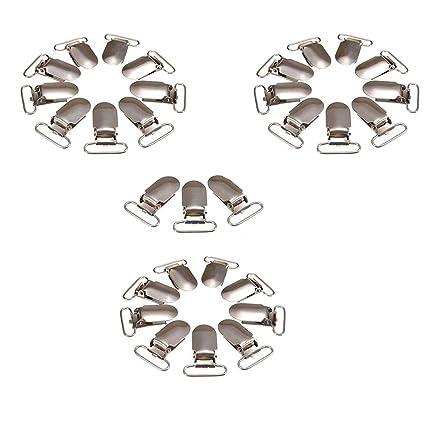 Clips 30pcs metal Chupete Chupete Suspender Clips de usos ...