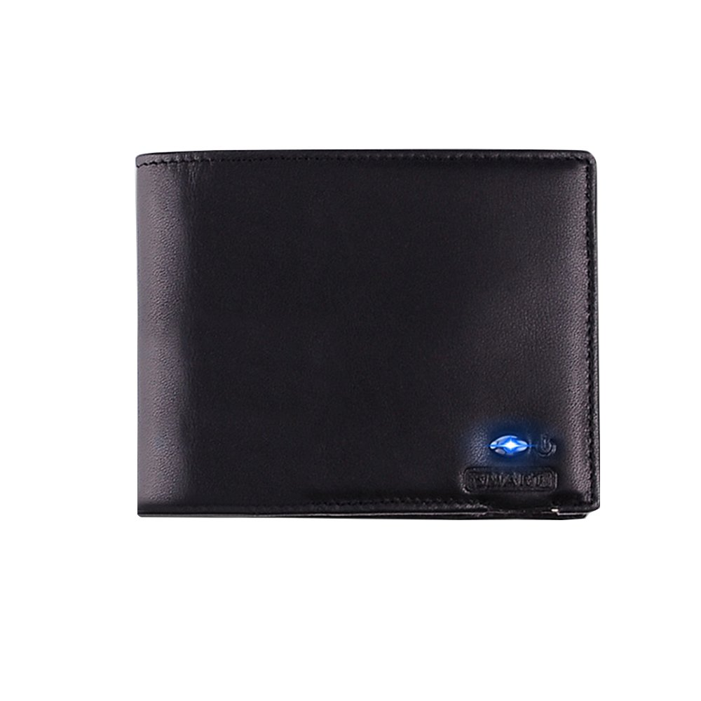Kukoo Smart Bluetooth Anti-theft Slim Wallet Cowhide Leather Bifold Purse