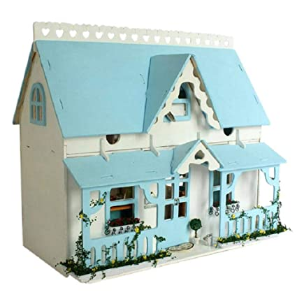 Oddity DIY Kit de casa de muñecas en miniatura, moderno, cabaña de bricolaje,