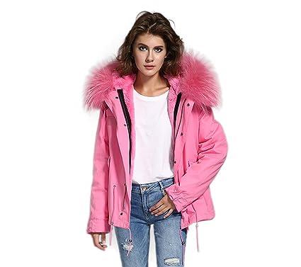 Echtfell jacke damen rosa