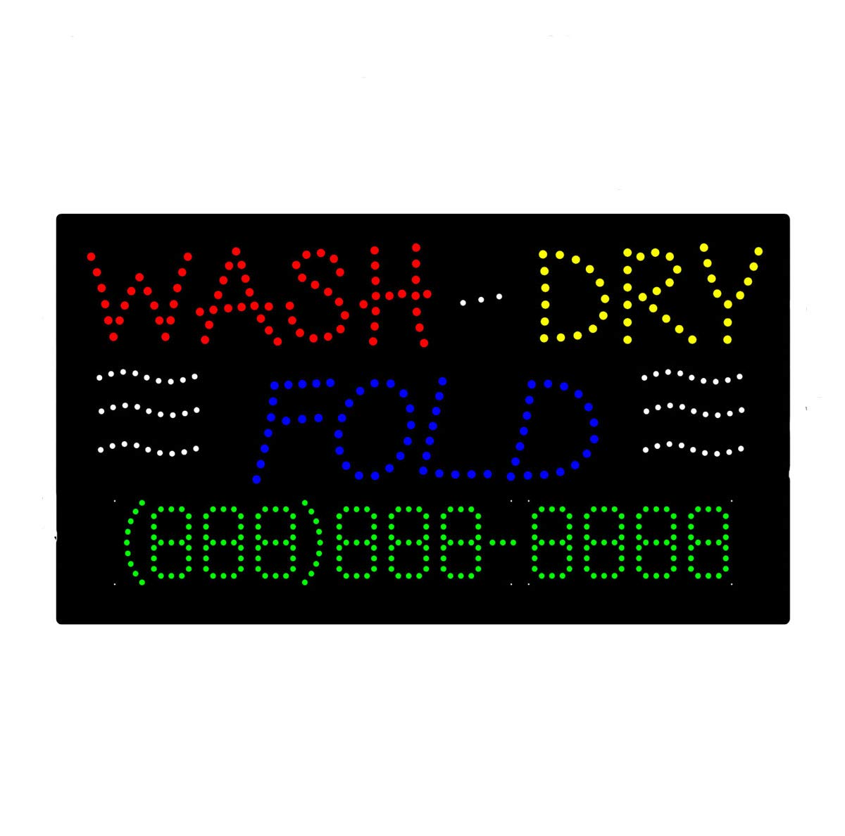 LED Laundromat Cleaners Open Light Sign Board Super Bright Electric Advertising Display Board Banner for Laundry Service Dry Cleaners Business Retail Shop Store Window 31 x 17 inches
