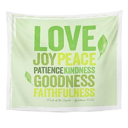 Amazon Com Emvency Tapestry Green Faith Vintage Christian Design ï