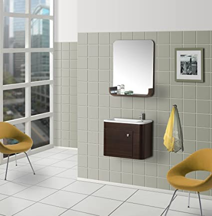 dreamline dlvrb 318 wn wall mounted modern bathroom vanity with sink rh amazon ca 30 Bathroom Vanity with Sink 30 Bathroom Vanity with Sink