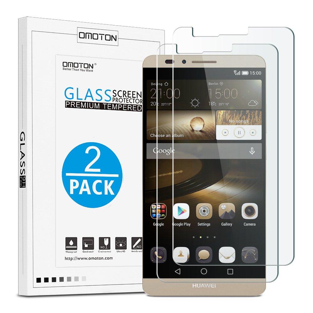 OMOTON Unidades Cristal Templado Huawei Ascend Mate Protector de Pantalla con H