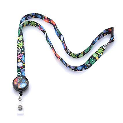 16828e5467da GREKYWIN Different Colors and Patterns Lanyard with Retractable Badge Reel  ID Card Name Tag Badge Holder Card Holder