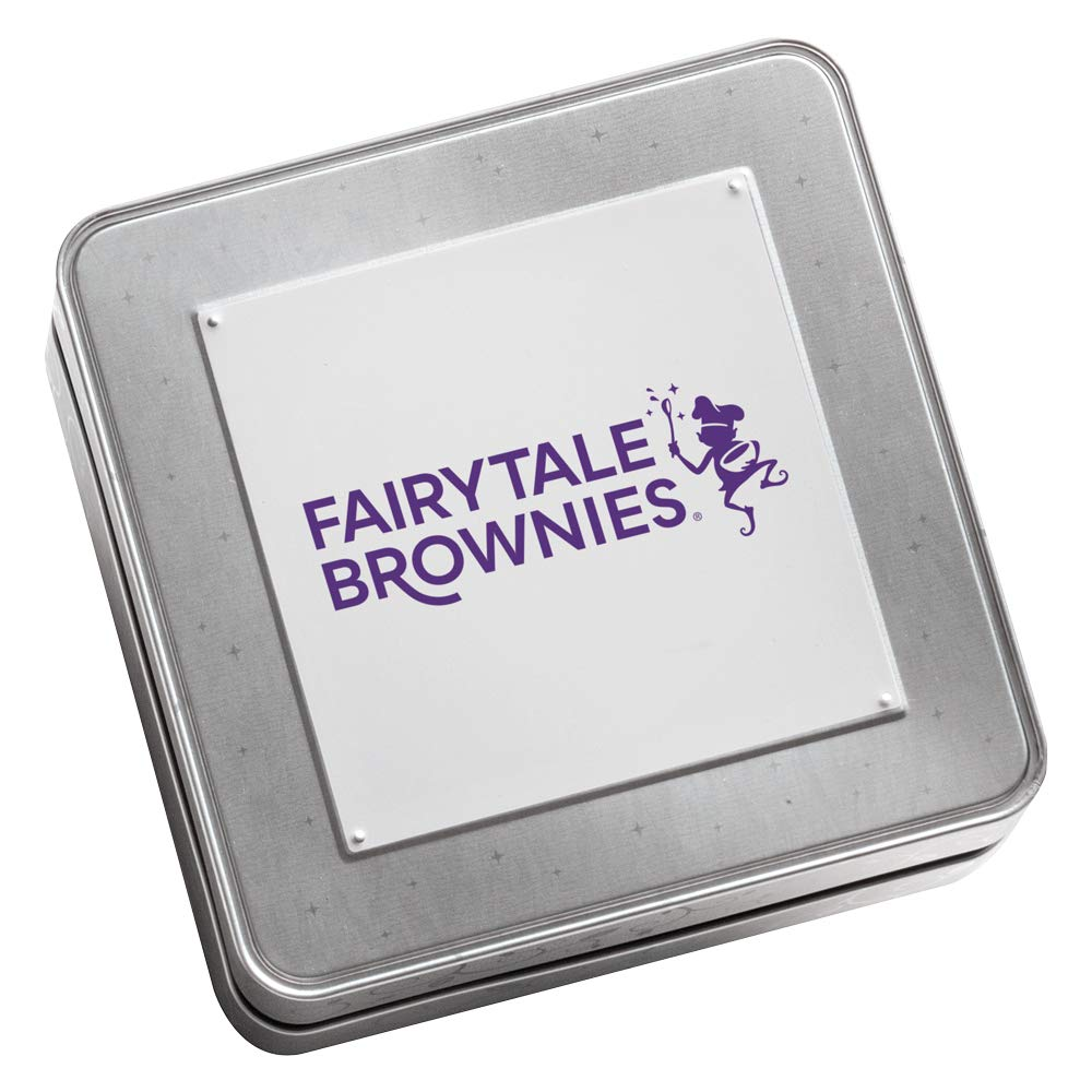 Fairytale Brownies Keepsake Tin Sugar-Free Magic Morsel 24 Gourmet Chocolate Food Gift Basket - 1.5 Inch x 1.5 Inch Bite-Size Brownies - 24 Pieces - Item TF524 by Fairytale Brownies (Image #2)