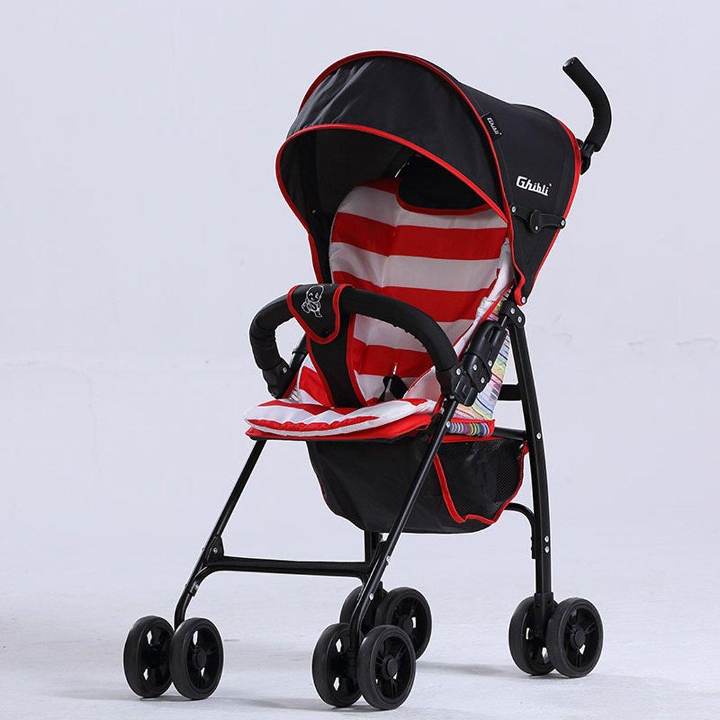 子供の傘ベビーカー軽量折りたたみポータブル超軽量ベビーカー、グリーン/パープル/レッド、58 * 45 * 96センチメートル ( Color : Red ) B07BW45SDH