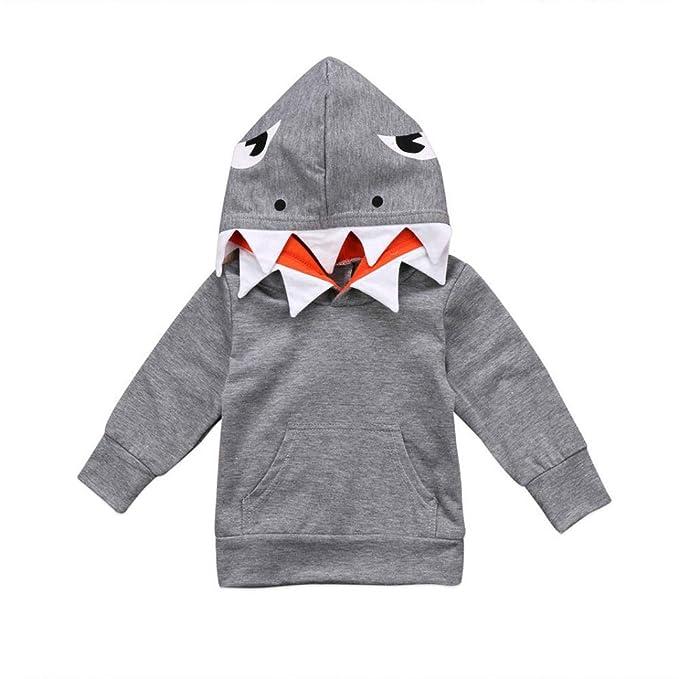 Ropa Bebe, ❤ Modaworld Sudadera bebé Niño pequeño Niños Niños Niñas Mangas Largas Tiburón