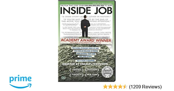 inside job movie reaction paper