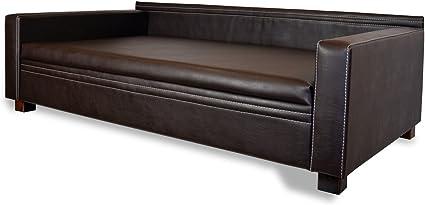 Canapé Pour Chien Luxe Manhattan Xxl En Cuir Synthétique