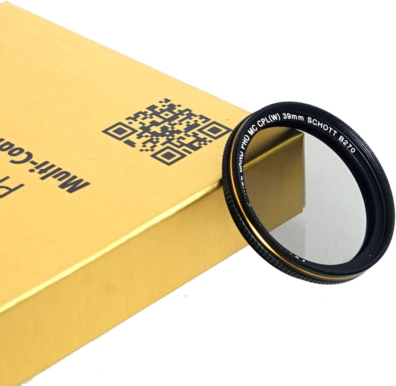Schott B270 Glass 18 Layers Multi-Coated 62 mm CPL Filter Fotasy 62mm Ultra Slim Circular Polarizing Filter PL Lens Filter Nano Coatings MRC Multi Resistant Coating Oil Water Scratch Resistant