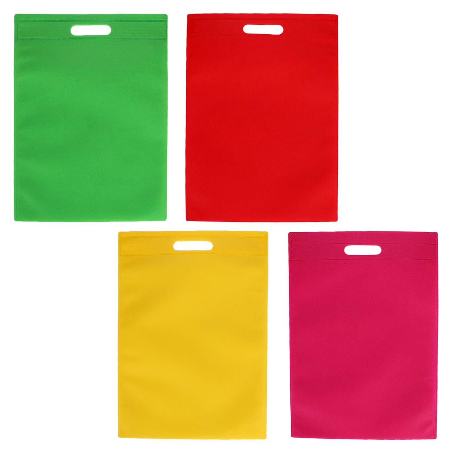 40PCS 300x250mm Assorted Colors Non-Woven Party Gift Tote Bags for Kids Adults Candy Book Stationery Toys Migavan