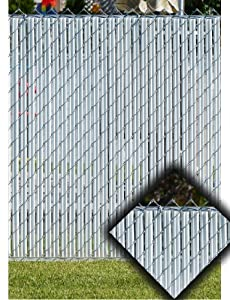 White Privacy Fence Slats (for 4' Chain Link) - Garden