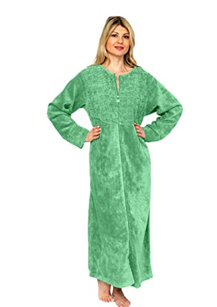 9baf4e4a48 Bath   Robes Women s Cotton Chenille Robe Full Length Bathrobe  Amazon.co.uk   Clothing