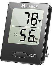 Habor Igrometro Termometro Digitale Termoigrometro LCD con l'Icona di comforto Termometro Ambiente Interni Rilevatore di umidit¨¤ per Ambienti Misura Temperatura & umidit¨¤ per Serra, Stanza, Casa